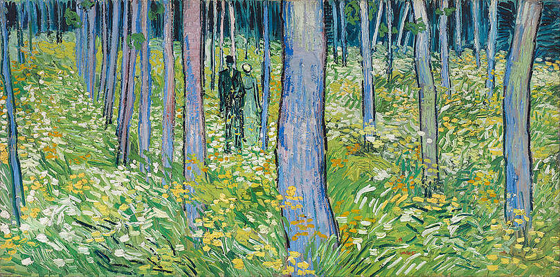 Undergrowth with Two Figures Print by Vincent van Gogh