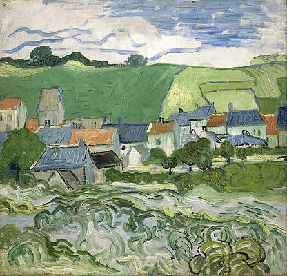 View of Auvers Print by Vincent van Gogh
