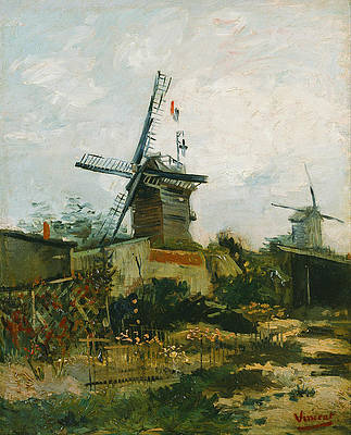 Windmills on Montmartre Print by Vincent van Gogh