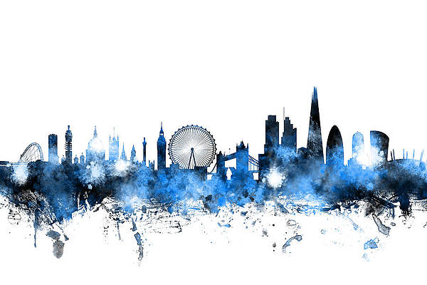 London Skyline Art Fine Art America