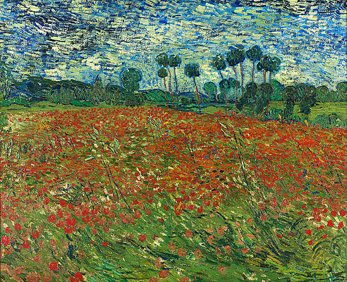 Field with Poppies Print by Vincent van Gogh
