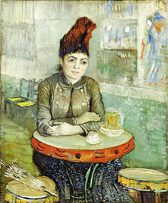 In the cafe. Agostina Segatori in Le tambourin Print by Vincent van Gogh