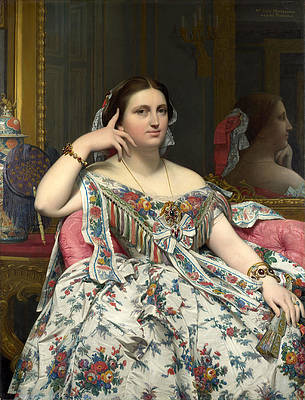 Madame Moitessier Print by Jean-Auguste-Dominique Ingres
