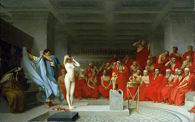 - Phryne before the Areopagus by Jean-Leon Gerome