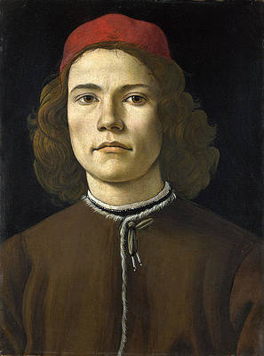 Portrait of a Young Man Print by Sandro Botticelli