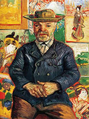 Portrait of Pere Tanguy Print by Vincent van Gogh