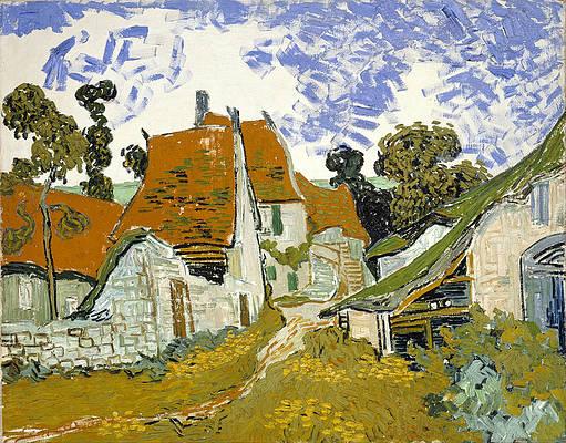 Street in Auvers-sur-Oise Print by Vincent van Gogh