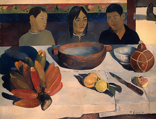 The Meal Print by Paul Gauguin
