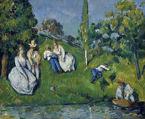 The Pond Print by Paul Cezanne