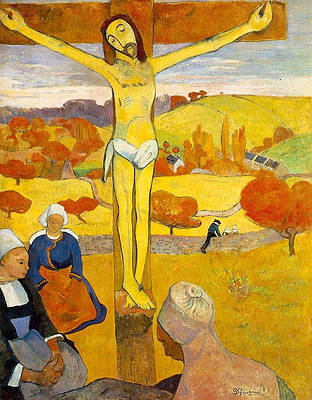 The Yellow Christ Print by Paul Gauguin