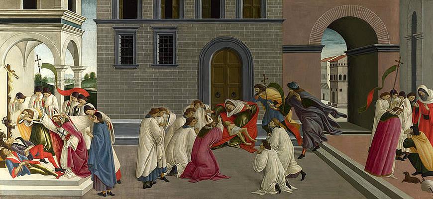 Three Miracles of Saint Zenobius Print by Sandro Botticelli
