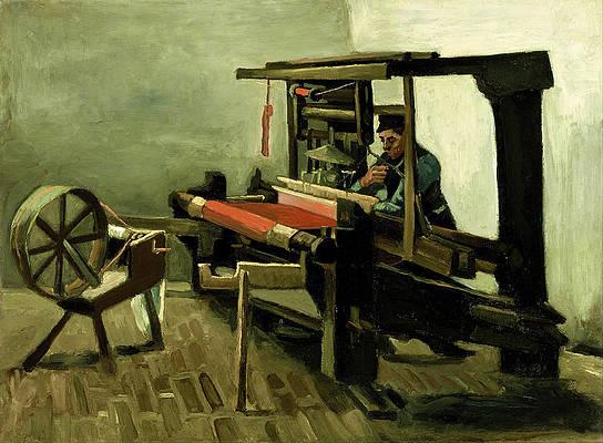 Weaver Print by Vincent van Gogh