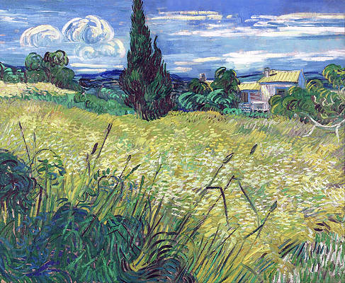 Green Field Print by Vincent van Gogh