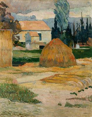 Landscape near Arles Print by Paul Gauguin