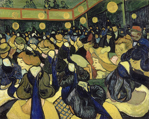 The Dance Hall in Arles Print by Vincent van Gogh
