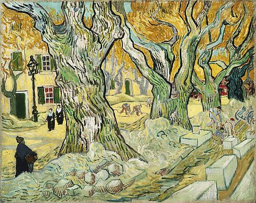 The Road Menders Print by Vincent van Gogh