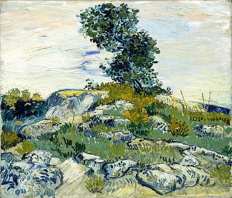 The Rocks Print by Vincent van Gogh