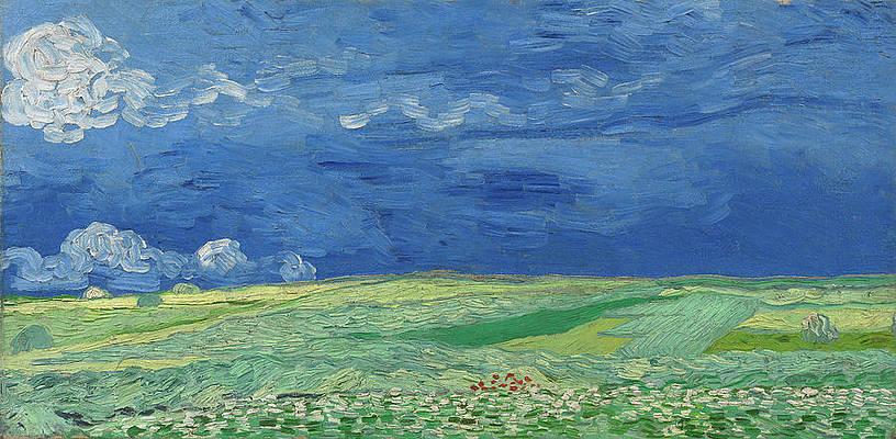 Wheatfield under Thunderclouds Print by Vincent van Gogh