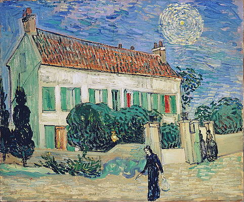 White House at Night Print by Vincent van Gogh
