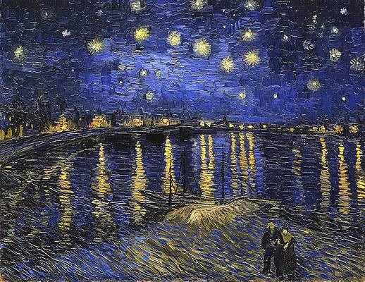 Starry Night Over the Rhone Print by Vincent van Gogh