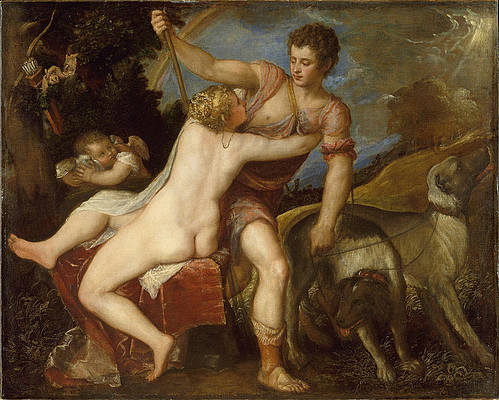 Venus and Adonis Print by Titian