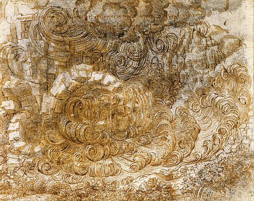 A deluge Print by Leonardo Da Vinci