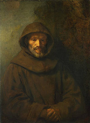 A Franciscan Friar Print by Rembrandt