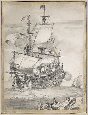 Featured Art - A Frigate at Sea by Pierre Puget
