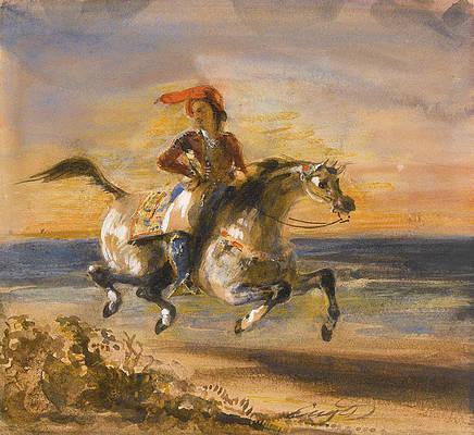 A Greek Horseman Print by Eugene Delacroix