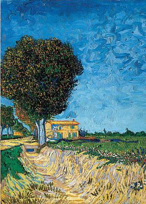 A Lane near Arles Print by Vincent van Gogh