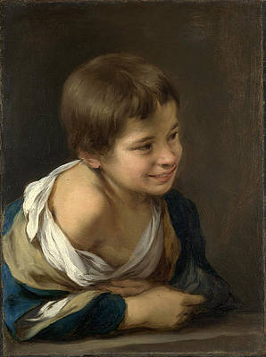 A Peasant Boy leaning on a Sill Print by Bartolome Esteban Murillo