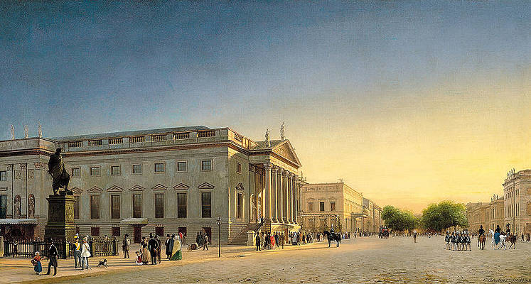 A View of the Opera and Unter den Linden. Berlin Print by Eduard Gaertner
