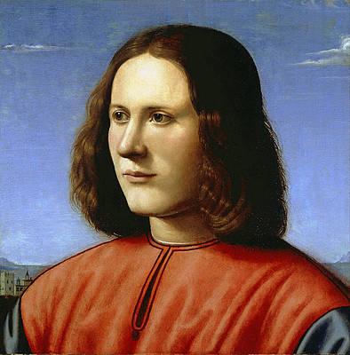 A Young Man Print by Piero di Cosimo