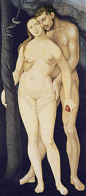 Adam and Eve Print by Hans Baldung Grien
