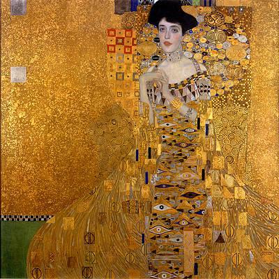 Adele Bloch-Bauer's Portrait Print by Gustav Klimt