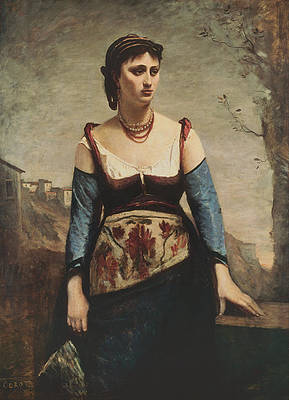 Agostina Print by Jean-Baptiste-Camille Corot