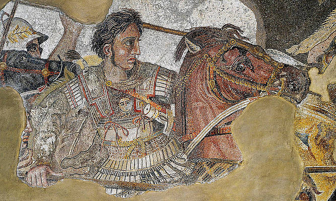 Alexander Mosaic. Battle of Issus Mosaic. Detail Print by Unknown