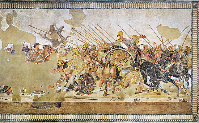 Alexander Mosaic. Battle of Issus Mosaic Print by Unknown