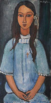 Alice Print by Amedeo Modigliani