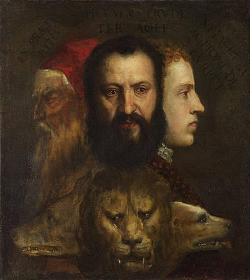 An Allegory of Prudence Print by Titian and Workshop