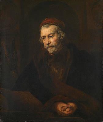 An Elderly Man as Saint Paul Print by Rembrandt