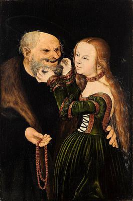 An ill-matched Pair Print by Lucas Cranach the Elder