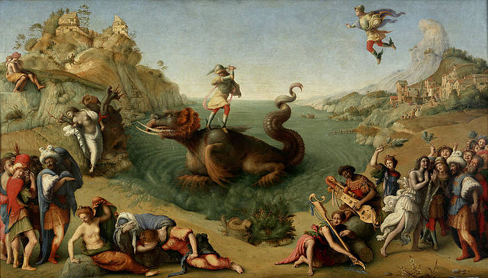 Andromeda freed by Perseus Print by Piero di Cosimo