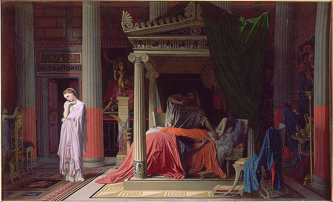 Antiochus And Stratonice Print by Jean-Auguste-Dominique Ingres