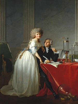 Antoine-Laurent Lavoisier and His Wife Print by Jacques-Louis David