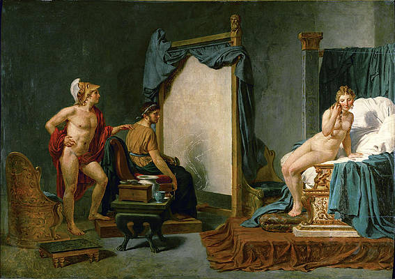 Apelles Painting Campaspe in the Presence of Alexander the Great Print by Jacques-Louis David