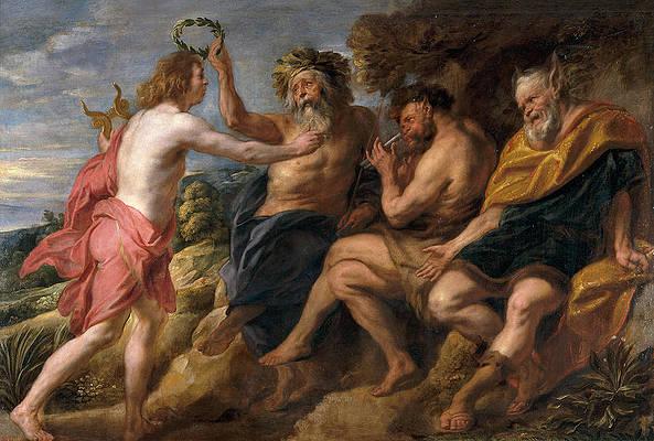 Apollo as Victor over Pan Print by Jacob Jordaens