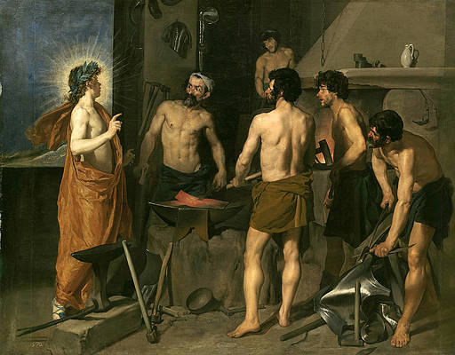 Apollo in the Forge of Vulcan Print by Diego Velazquez