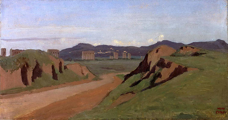 Aqueduct Print by Jean-Baptiste-Camille Corot