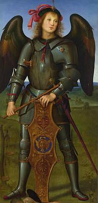 Archangel Michael Print by Pietro Perugino